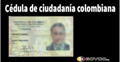 Cédula de ciudadanía en Colombia