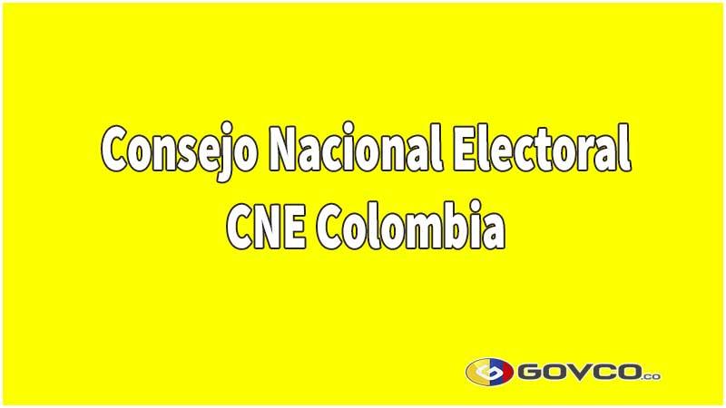 CNE en Colombia.