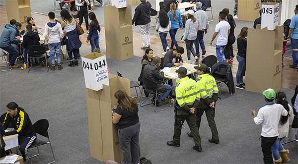 Foto de elecciones por el Consejo Nacional Electoral.