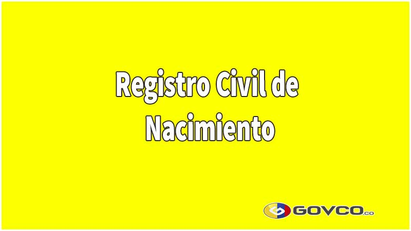 registro civil de nacimiento en colombia