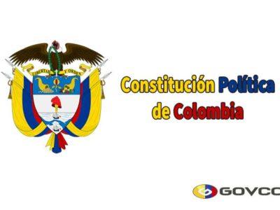 Portada de Constitución Política Colombiana