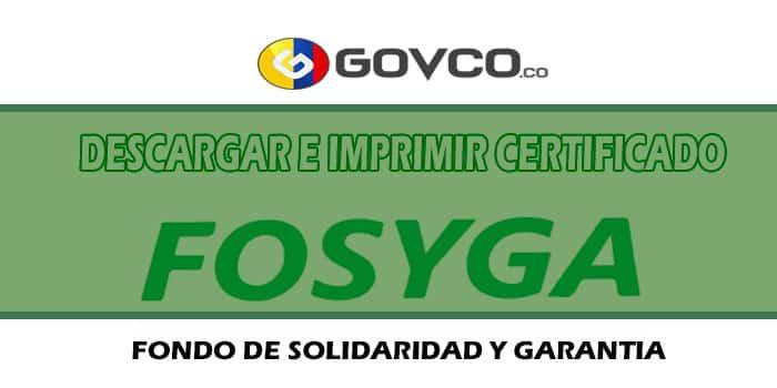 descargar certificado fosyga govco.co