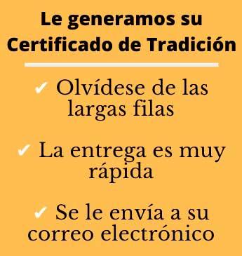 certificado de tradición y libertad en línea