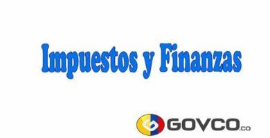 Impuestos y Finanzas en colombia