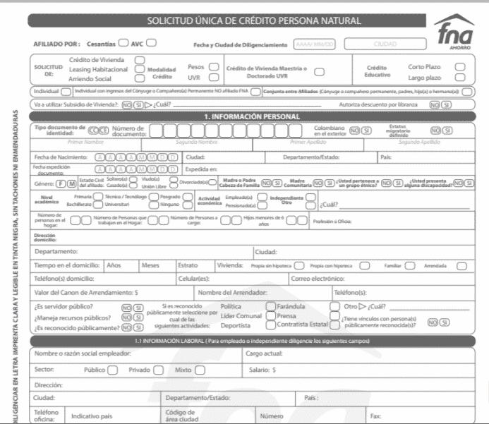 solicitud-unica-de-credito-persona-natural-fna-fondo-nacional-del-ahorro-en-colombia