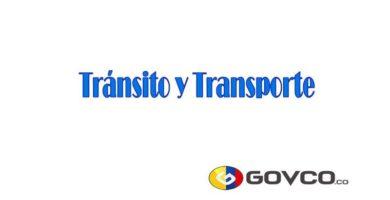 tránsito y transporte en colombia